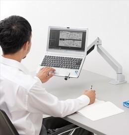 ノートパソコンアーム100-NPC004