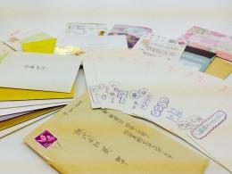 講師やスタッフ宛に寄せられるメッセージカードの数々