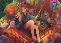 グランプリ作品 東京都立葛飾商業高校2年の深澤麻南さん「幻想夏祭」