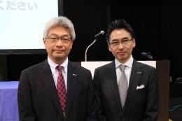 織田執行役常務(左)と小野田文教本部長