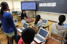 「Chromebook」を使った授業風景