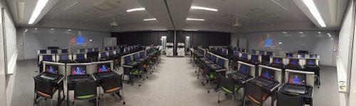 ハイブリッド型アクティブラーニング教室のイメージ(近畿大学C館311-314教室)