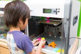 3Dプリンタでの制作の様子