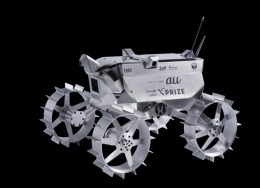 「au×HAKUTO MOON CHALLENGE」で開発中の月面探査ロボット(ローバー)