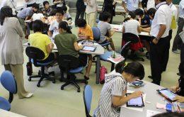 上大野小学校の授業風景