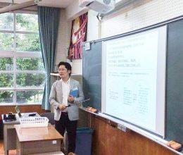 小学校で「情報モラル」の指導をする田中氏