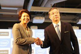 江田麻季子 インテル社長(左)と大久保 昇 内田洋行社長