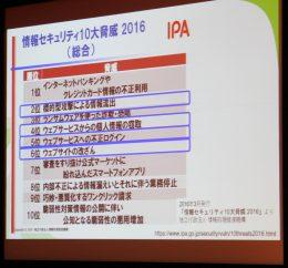 情報セキュリティ10大脅威(出典:IPA)