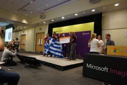 大会2日目、プレゼンテーション結果発表の様子。