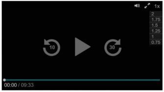 動画再生の画面上のレイヤー。画面右上には倍速再生が仕組まれている。