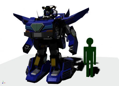 「J-deite RIDE」の完成イメージ図<ロボットモード>