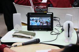 グループ学習に使用するタブレットセット