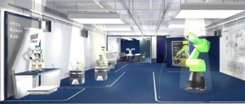 Tokyo Robot Lab.イメージ図(ロボット展示スペース)