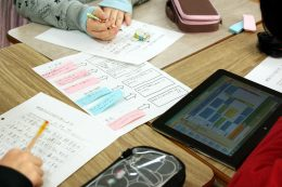 デジタルとアナログを使った授業展開
