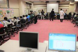 PC教室でのプログラミング授業