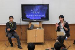 松田校長(左)と寺本さん