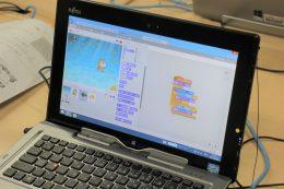 ゲームのプログラミング画面