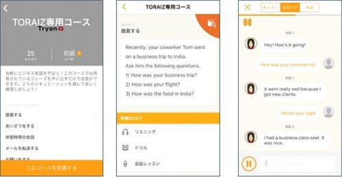 共同開発予定の「TORAIZ 専用コンテンツ」のイメージ