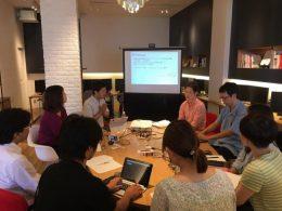 Webサイトデザイン制作準備風景。地域医療学講座の先生方との対話イベントの様子
