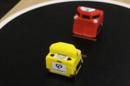 「マイクロ相撲ロボット」試作品