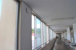 廊下に設置されたラッカスのAP