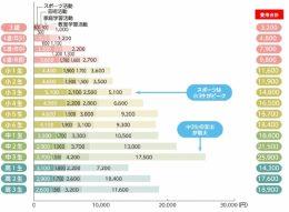 学年別学校外教育活動費(月額)