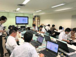 総合学習センターPCルームでの研修風景