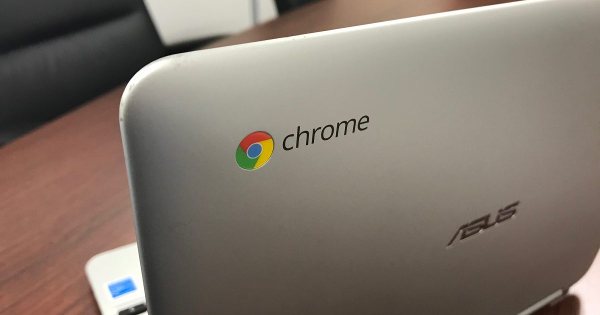 Chromeロゴの付いたChromebook端末