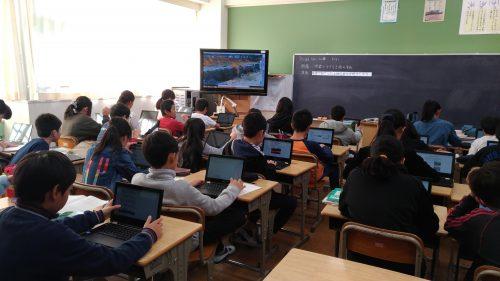 学校での利用風景(シネックスインフォテック提供)
