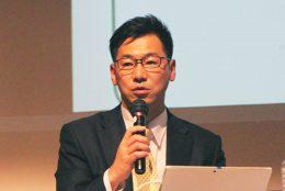 「教育の情報化フォーラム」で決意を語る中川氏