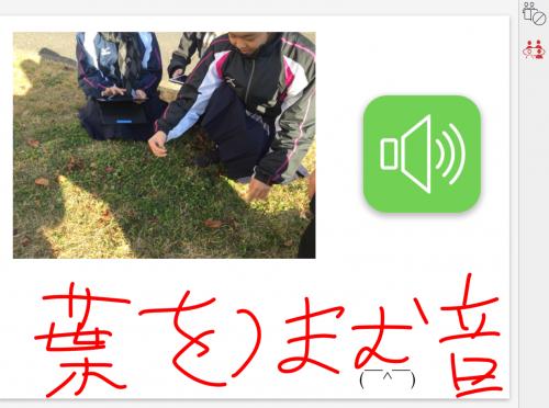 音声ボタンの機能を追加した画面