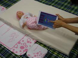 午睡シートとアイコンタッチによる入力画面