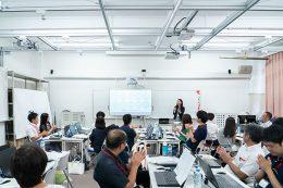 2018年8月1日に開催した第1回の教員向け研究会の様子