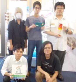 前列左より屋田さん、新里さん 後列左より眞喜志さん、八幡さん、赤嶺さん