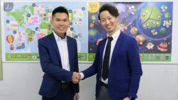 West Wong氏(左)と橋本恭伸 Digika社長