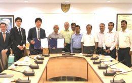 インド国立工業大学カルナータカ、スラスカル校との覚書締結式