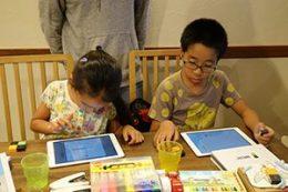 子ども食堂でのプログラミング体験