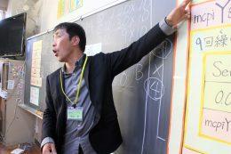 自らプログラミング授業を実践(前原小)