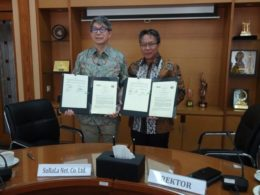 インドネシア教育大学(UPI)との調印式の様子