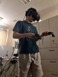 VR教材の学習風景から